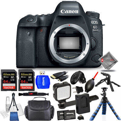 Canon EOS 6D Mark II DSLR Camera (Body Only) - Mega Kit AUTHORIZED CANON DEALERS
