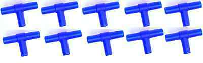 10x Air Line Tee Connectors For connecting & Joining Aquarium Airline x10