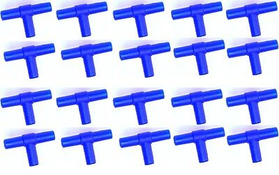 20x Air Line Tee Connectors For Joining Aquarium Airline x20