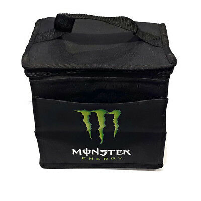 MONSTER ENERGY Cooler Lunch Bag Zippered Top Handle Insulated Front Pocket NEW