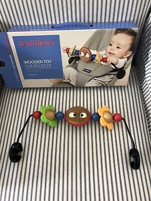 BABYBJORN Wooden Toy for Bouncer - Googly Eyes (From Newborn)