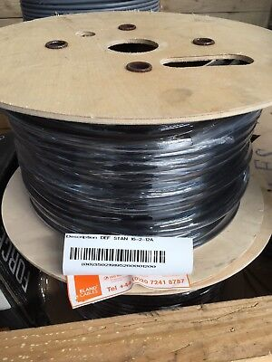 16-2-12A Def-Standard PVC Multicore Unscreened 0.5mm² Black Cable (100m Drum)