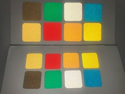 20 Ultra Reflective Vinyl Squares: 8 Colors, 3 Sizes, Engineer Grade