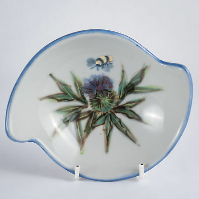 Highland Stoneware Thistle & Bee Handpainted Quaich / Bowl - more available