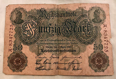 Germany- 50 Mark Banknote 1910 - A - 8347725