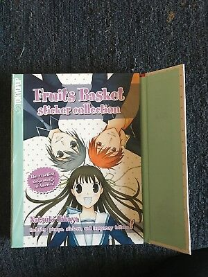 Fruits Basket Sticker Collection Hard Cover Book w/Color Pinups & Temp Tattoos
