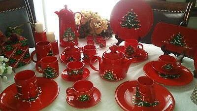Christmas Tree by Waechtersbach -  Dinnerware Set of 32 - Pieces Listed in Ad