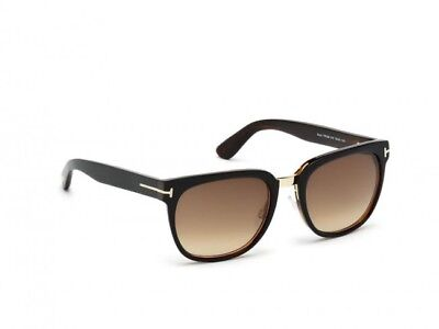 f462d5a3532 NWT Tom Ford Sunglasses TF 290 01F Top Black Brown   Gradient Brown 55 mm  FT0290