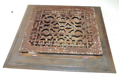Vintage Vtg Antique  Floor Grate And Frame Heat Vent