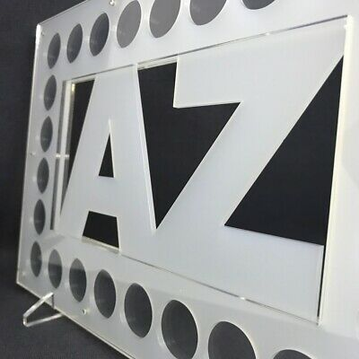 A-Z Alphabet 10p Coins, Perspex Coin Display for Complete Collection