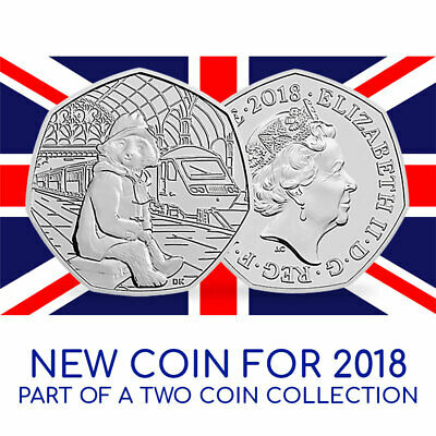 Paddington Bear 'At the Station' 50p Brilliant Uncirculated Coin 2018