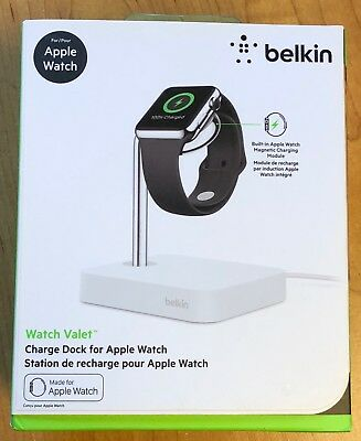 NEW SEALED Belkin Watch Valet Apple Watch Charge Dock Station White MSRP $90