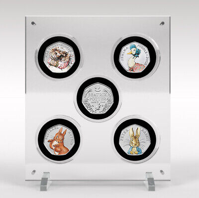Beatrix Potter Collection 2016 50p Coins, Perspex Display