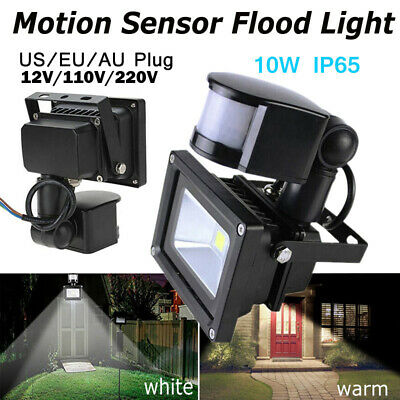 LED Flood Light PIR Motion Sensor 10W Outdoor Square Spotlight Safelight