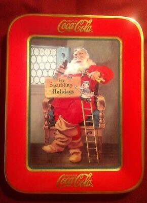 """Franklin Mint 1996 """"for Sparkling Holidays"""" Limited Edition Coca-Cola Plate"""