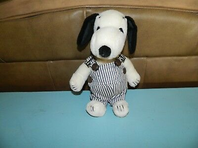 """Vintage Snoopy Dog Plush Overalls 1968 - 11"""" tall"""