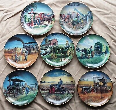 Farmland Memories Danbury Mint Collector Plates John Deere Tractors