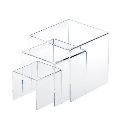Clear Acrylic Riser Set Display Jewelry Showcase Fixtures Displays