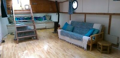 Shabby Chic Kennet & Avon Barge Wide Beam Live-a-Board Canal Boat  69ft X 13ft