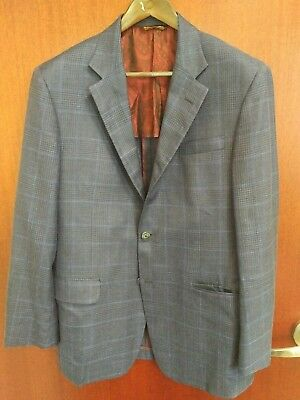 current ROBERT TALBOTT sportcoat blue wool and silk 42r 9/10 carmel