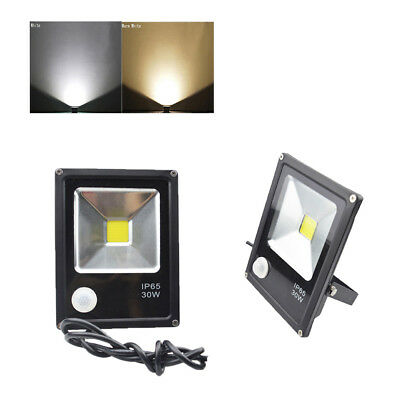 LED Flood Light PIR 30W Motion Sensor Spot Yard Floodlight Safelight Security