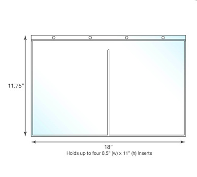 Tabloid Size Binder Page Protectors - Holds Four 8.5x11 inch Sheets - Pack of 25