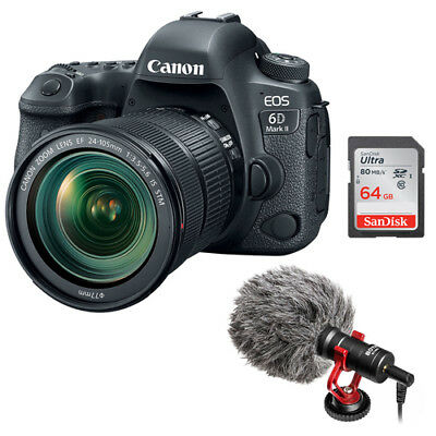 Canon EOS 6D Mark II DSLR Camera with 24-105mm f/3.5-5.6 Lens Bundle