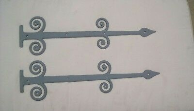 Original Pair Of Hand Made Cast Iron False Hinge Fronts Well Over 100 Years Old
