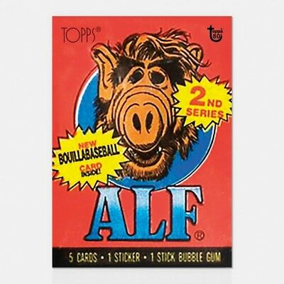 2018 Topps 80Th Anniversary Wrapper Art Card #59 59 - 1987 Alf- Series 1