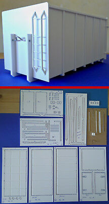 """""""NEU"""" Polystyrol Bausatz Abrollcontainer Mulde CNC 1/24 roll-off container (09)"""