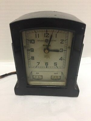 GE Stove Timer Clock 3T14 1930s Vintage General Electric Hotpoint Parts Repair