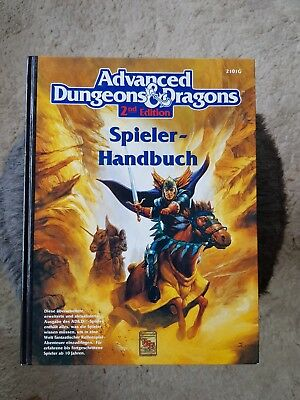 AD&D SPIELER HANDBUCH ☆ Note 1- ☆ 2nd Edition  Advanced Dungeons & Dragons TSR