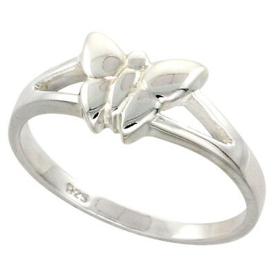 Sterling Silver Dainty Butterfly Ring Flawless finish 5/16 inch wide, sizes 6 to