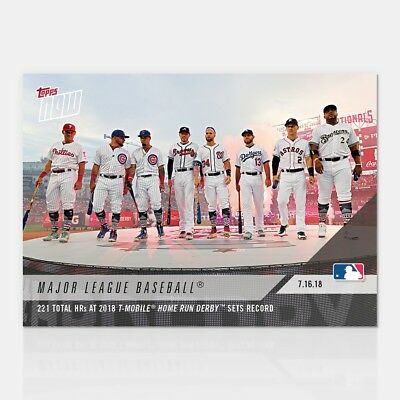 2018 Topps Now #466 221 Total Hrs At 2018 T-Mobile Home Run Derby Sets Record
