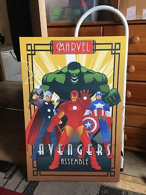 MARVEL AVENGERS CANVAS ART PICTURE LARGE 18 x 32 inch