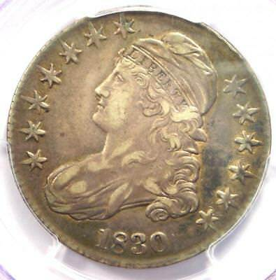 1830 Capped Bust Half Dollar 50C - PCGS XF45 (EF45) - Rare Certified Coin!