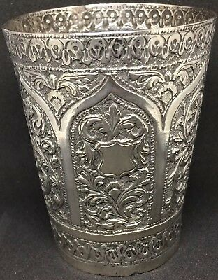 VERY FINE HEAVY Antique Solid Silver Kutch (Cutch) Beaker - c1900 - 123.2g