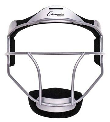 (Youth, Silver) - Champion Sports Softball Fielder's Face Mask. Free Delivery