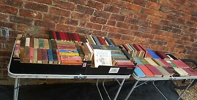 Joblot of 110,vintage and antique hardcover books large job lot