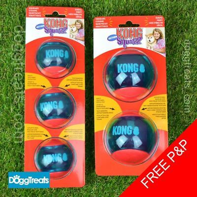 KONG Squeezz Action Ball - Squeaky Rubber Chase Play Bounce Bouncy Ball Dog Toy
