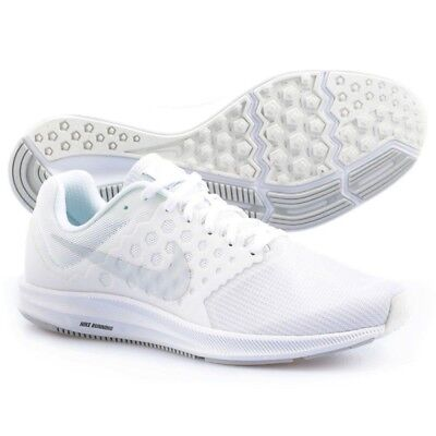 57275108e674 Nike DOWNSHIFTER 7 Mens White 852459-100 Running Athletic Training Lace Up  Shoes