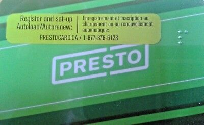 Presto Bus Pass - Preloaded With $200