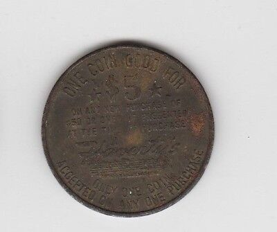 Haverty Furniture Company Alabama $5.00 Scrip Token Gold Member 1 1/4 ""