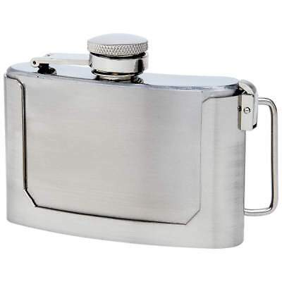 3oz Secret BELT BUCKLE FLASK Stainless Steel Screw Cap Hip Pocket Carry Liquor