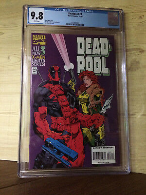 Deadpool #3 (Oct 1994, Marvel) CGC 9.8 X-Men Limited Series