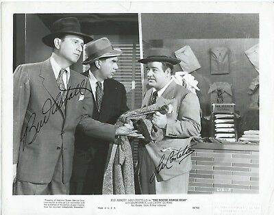 ABBOTT AND COSTELLO Hand Signed Autographed 8x10 Photo w/COA - Signed by Both
