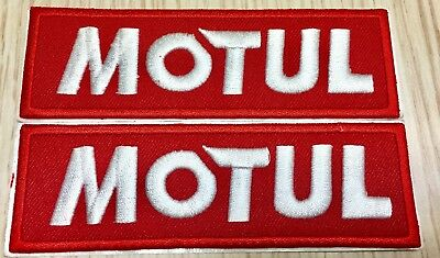 "Lot of 2 Motul Patch Embroidered with Adhesive Backing 1.38"" x 4.43""   US Seller"