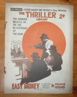 THE TRILLER No 430 Vol 16 1ST MAY 1937 EASY MONEY BY FRANCIS GERARD