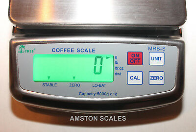 Digital Scale 1000 X .1 Gram 2.2 Lb Stainless Bakery Meat Food Kitchen Fruit New