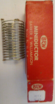 """B&W Miniductor 3014 vintage air core inductor 1.75"""" section 2.39 microhenry"""